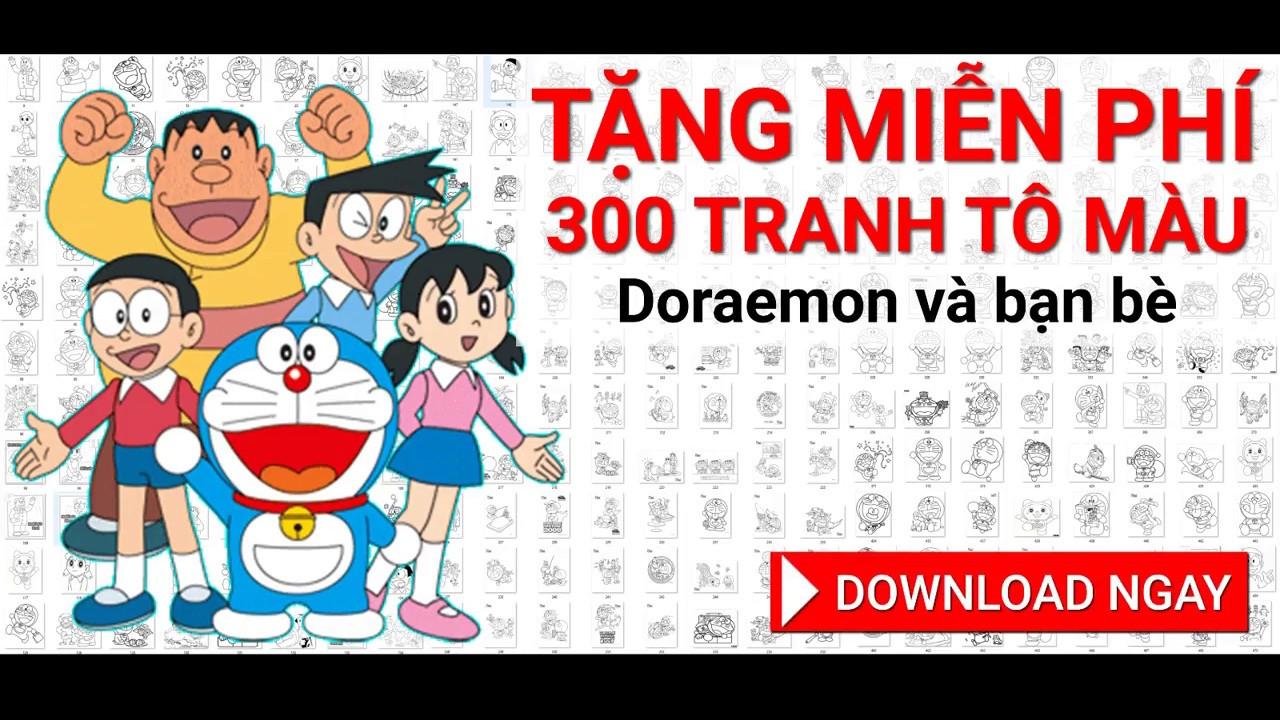 [DOWNLOAD MIỄN PHÍ] 300 hình tô màu Doremon và những người bạn