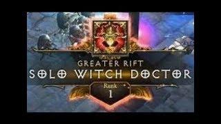 Diablo 3 | GR130 Solo Witch Doctor | Rank 1 WORLD (Jade)