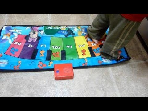 Review of Mickey's Music Piano Mat for Little Feet and Hands!