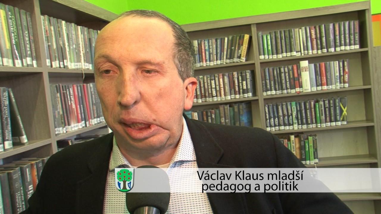 Václav Klaus Mladší Besedoval V Luhačovické Knihovně