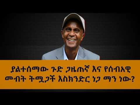 Who Is Eskinder Nega?
