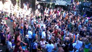 Partying in The Village at Shambhala 2011
