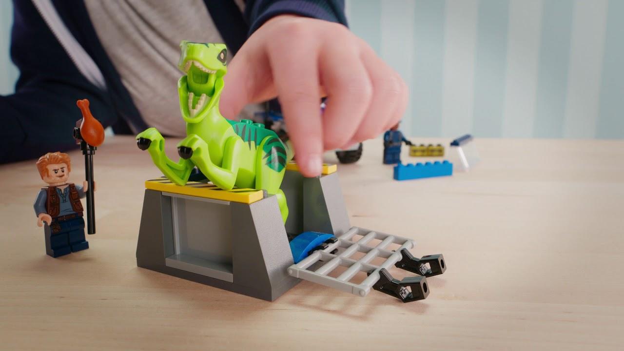 Lego Juniors 10757 camion soccorso Velociraptor Jurassic World 2018