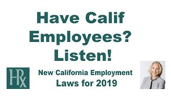 New California Employment Laws 2019