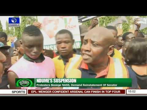Ndume's Suspension: Protesters Besiege NASS, Demand Reinstatement Of Senator