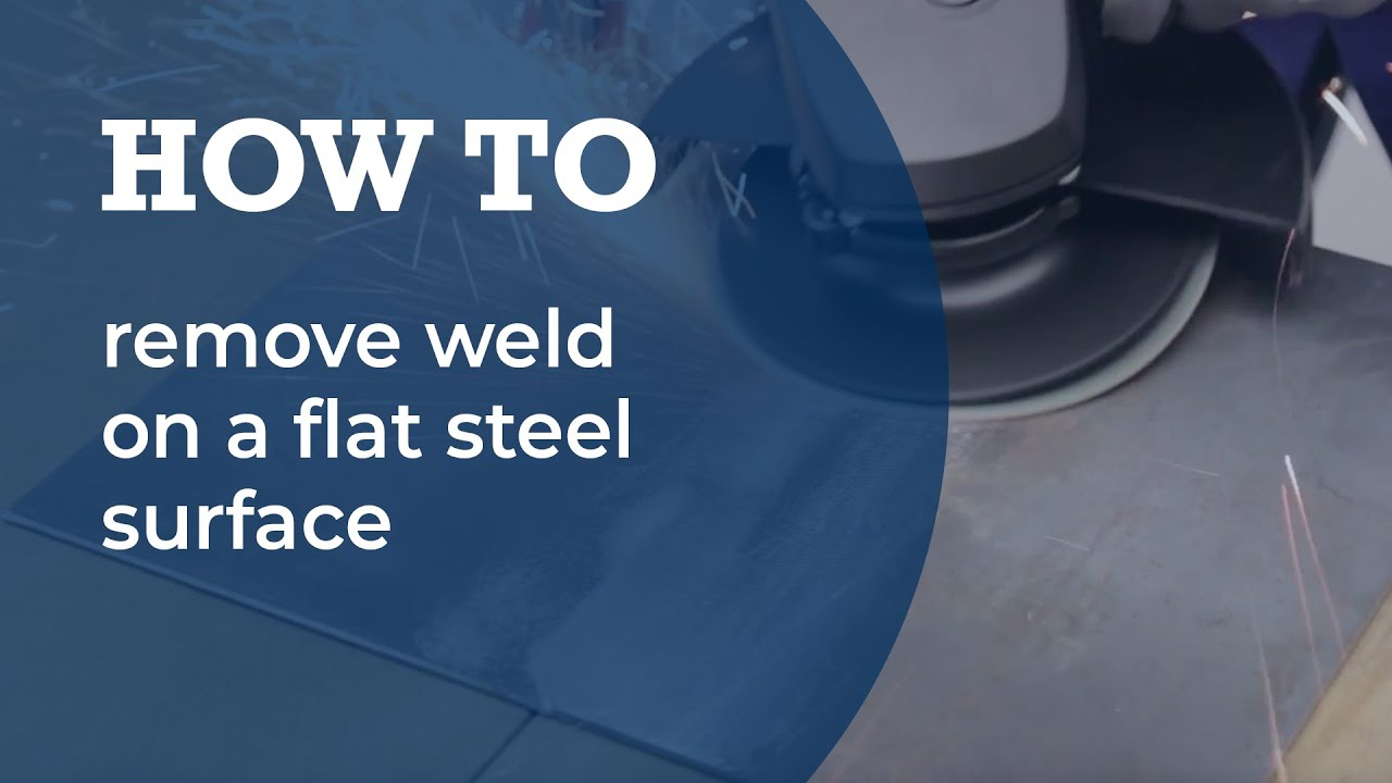 Weld Removal On A Flat Steel Surface Youtube