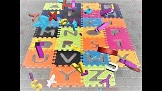 ABC Song Nursery Rhymes with Puzzle toy! - Pasha and Taya Show