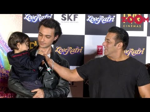 Salman Khan's CUTE MOMENT With Nephew Ahil Sharma At 'Loveratri' Trailer Launch