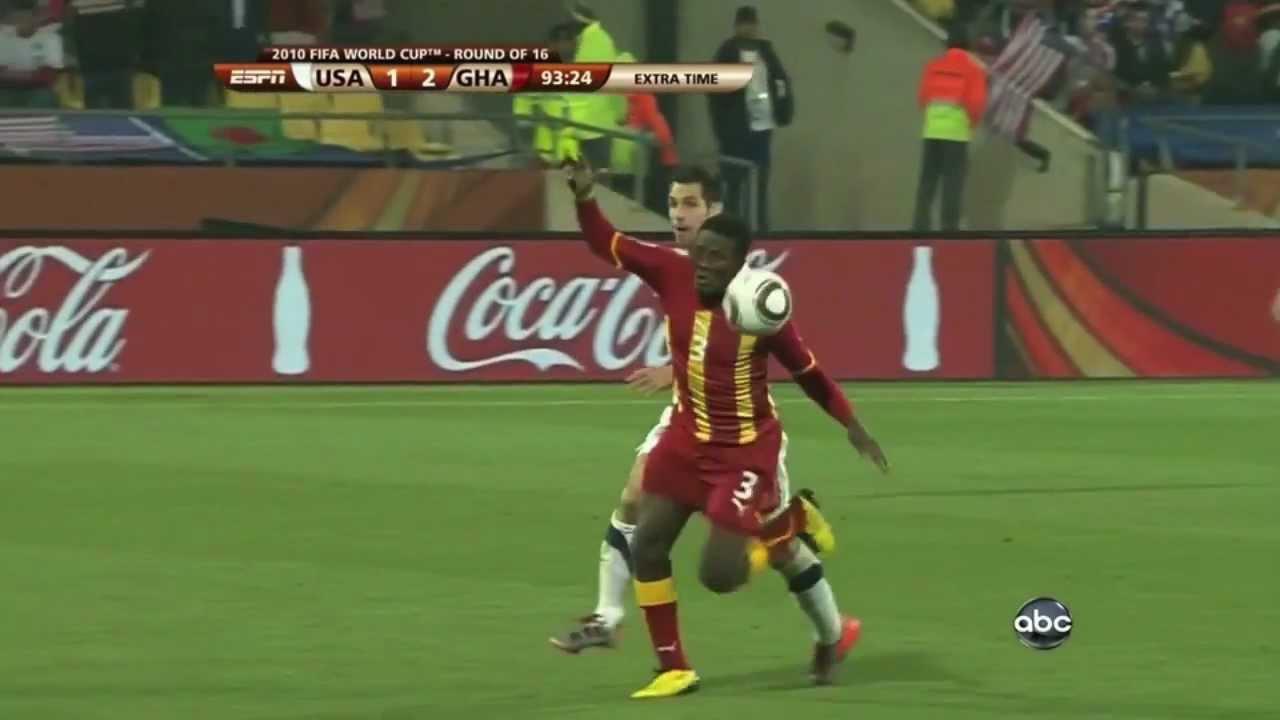 Asamoah Gyan Goal Ghana 2-1 USA World Cup 2010 - YouTube