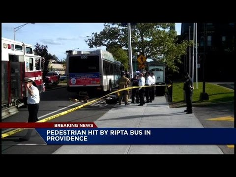 Woman hit by RIPTA bus in Providence