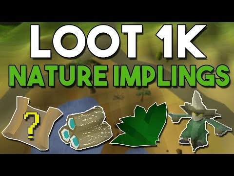 Loot From 1000 Nature Impling Jars! Can You Make Money Opening Nature Impling Jars? [OSRS]