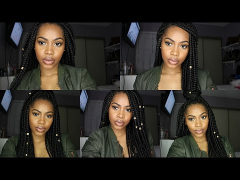 HOW I STYLE MY BOX BRAIDS | 5 QUICK AND EASY HAIRSTYLES