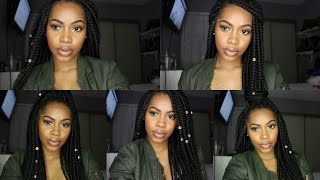 how i style my box braids   5 quick and easy hairstyles