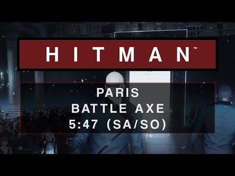 Hitman Paris Battle Axe 5 47 Sa So Youtube