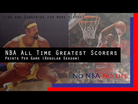 NBA All Time Greatest Scorers - Points Per Game (Regular Season)