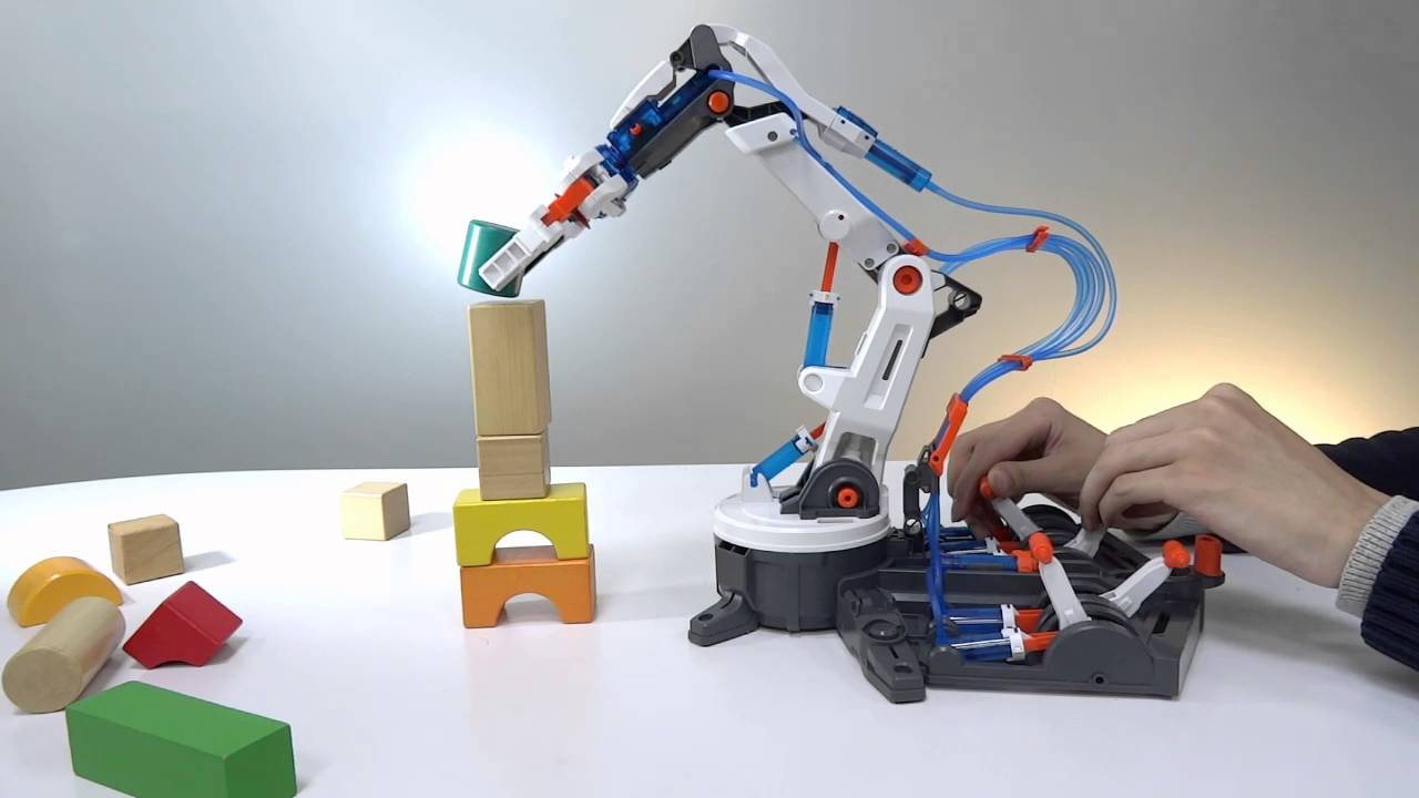 Hydraulic Powered Robot Arm : Hydraulic robot arm power at your fingertips without any