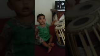 vuclip One year old kid paly tabla