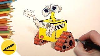рОБОТ ВАЛЛ-И - Как Нарисовать Робота Валли (WALL-E) поэтапно - урок рисования