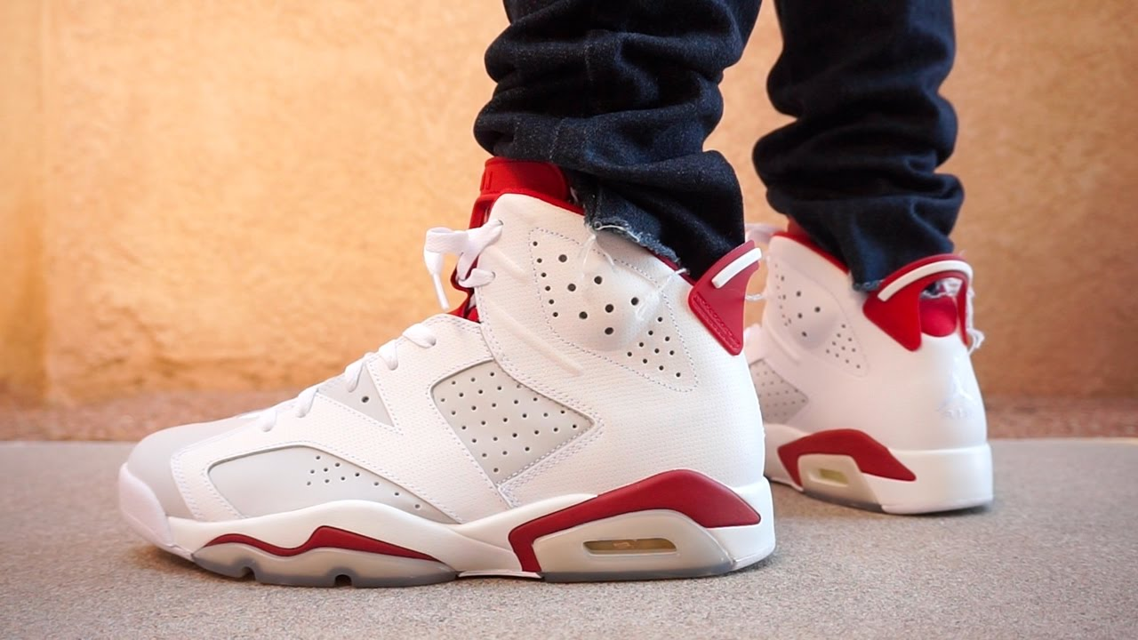 55d8a1095d52 AIR JORDAN 6 ALTERNATE EARLY REVIEW UP CLOSE ON FOOT !!! - YouTube
