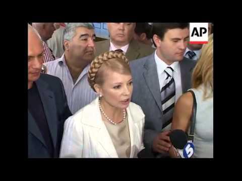 Former PM Yulia Tymoshenko voting in elections