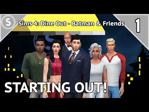 Let's Play Sims 4: Dine Out - Batman & Friends - [P1] - Starter Superheroes aren't so super!