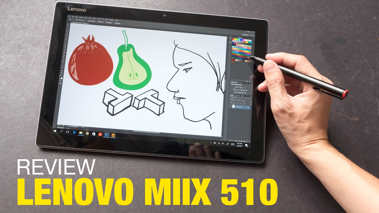 Artist Review: Lenovo Miix 510 with Active Pen (Updated)