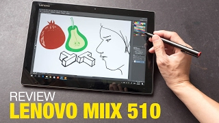 Artist Review Lenovo Miix 510 with Active Pen Updated