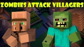 When Zombies Attack Villagers - Minecraft
