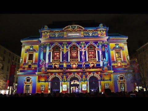 France Lyon Lights Up For Annual Festival Youtube