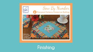 Sew By Number Placemat - Finishing