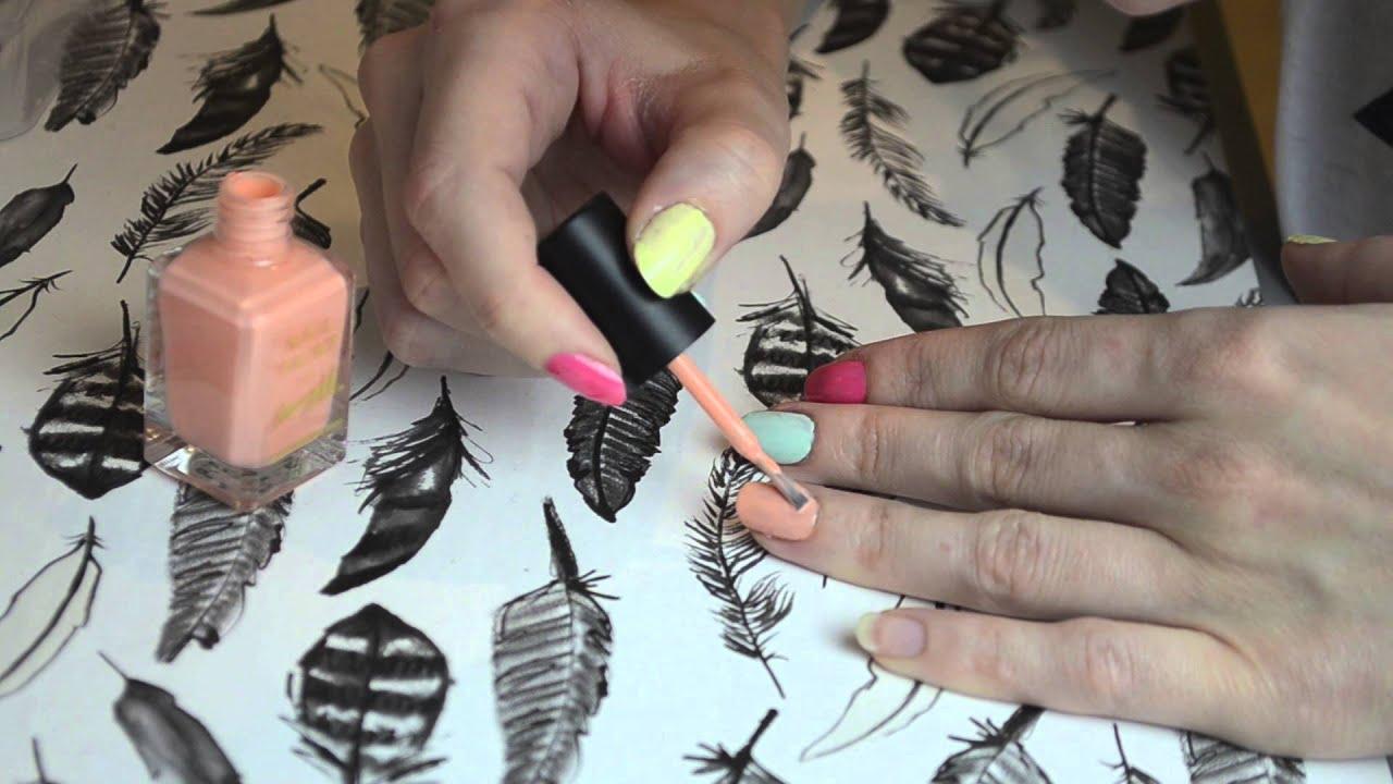 Unghii Vesele Model Cu Buline In Culori Pastelate Cute Nails