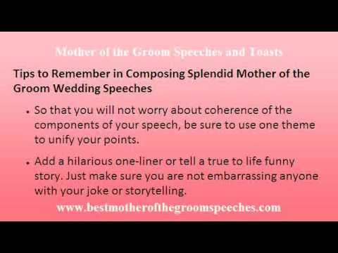 Mother of the Groom Wedding Speech 101 - Find Motivation in Writing  Splendid Wedding Speeches Today!