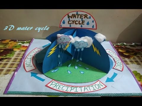 How to make 3D Water Cycle Water Cycle Model School Project for