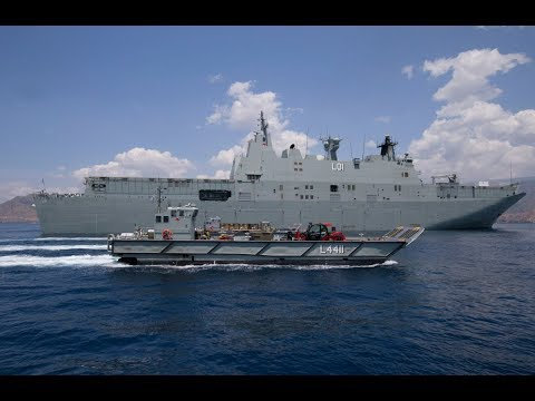 HMAS Adelaide Delivers Portable Hospital to Dili