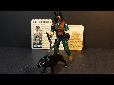 HCC788 - 1984 Dog Handler MUTT & JUNKYARD - vintage G. I. Joe toy review! HD