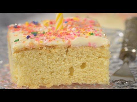 Vanilla Sheet Cake Recipe Demonstration - Joyofbaking.com