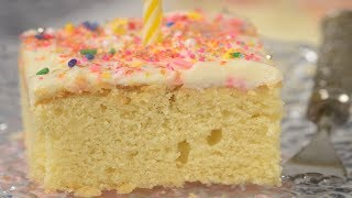 Vanilla Sheet Cake Recipe Demonstration - Joyofbaking.com