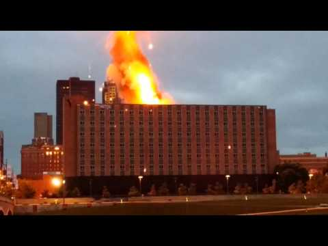 Riverfront YMCA in Des Moines Iowa implosion