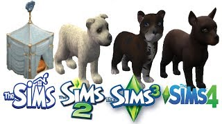 ♦ Sims vs Sims 2 vs Sims 3 vs Sims 4 : Puppies (Dogs Part 3)