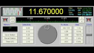 ALL INDIA RADIO - Reception difference 11670 kHz vs. 7550 kHz (Music)