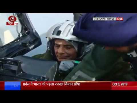 France: Rafale jet carrying Defence Minister Rajnath Singh takes off for a sortie