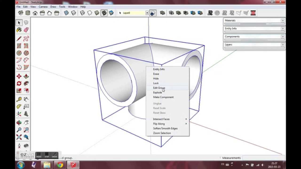 Sketchup 3 Way Pvc Corner Fitting Youtube