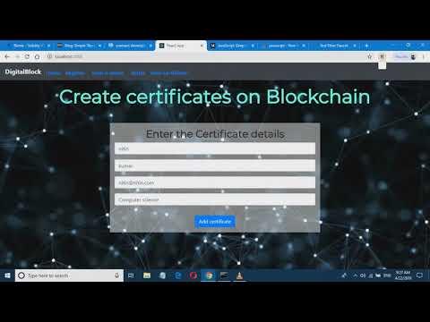 Certificates on blockchain