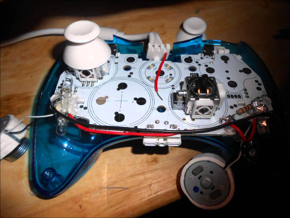 maxresdefault rock candy xbox 360 controller mod! youtube xbox 360 wired controller circuit board diagram at edmiracle.co