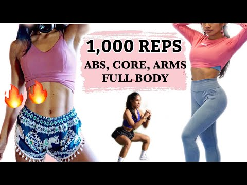 1000 reps full body workout  burn belly fat  home