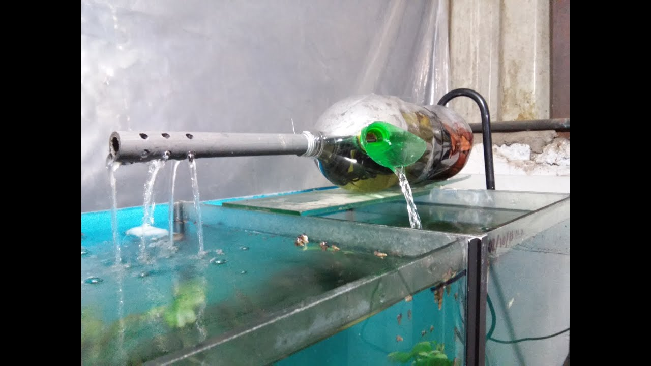 Filtro casero con botella youtube for Filtro casero para estanque