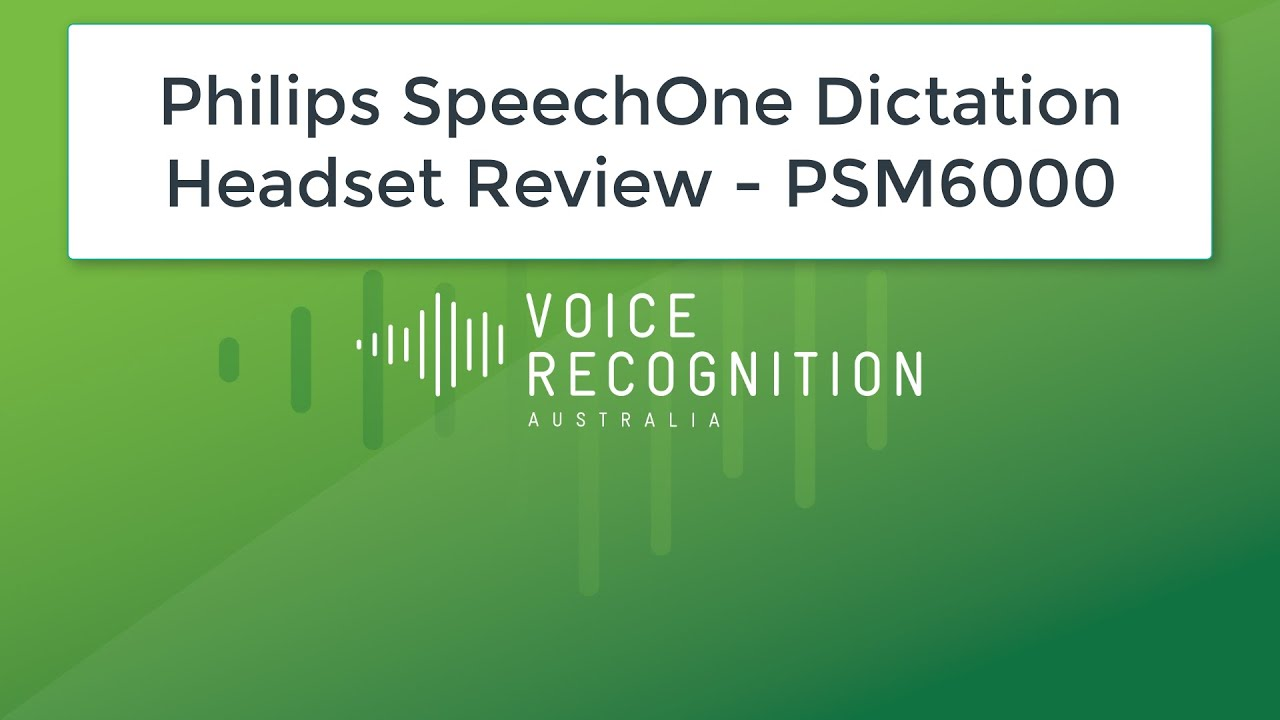 e7260d67f36 Philips SpeechOne Dictation Headset Review - PSM6000 - YouTube