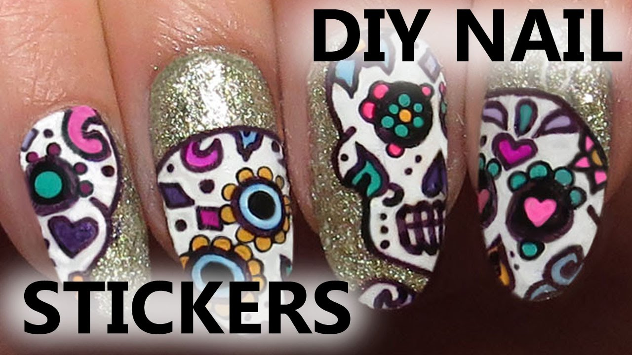 - Easy Halloween Sugar Skull Sharpie Nail Art - YouTube
