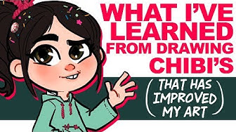 how-to AVOID the BIGGEST CHIBI MISTAKE | V is for Vanellope Von Schweetz | DrawingWiffWaffles