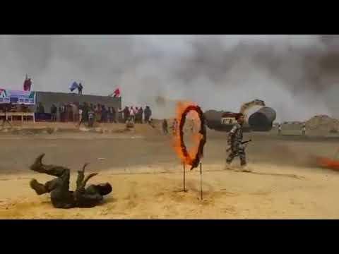 بعرض عسكري مهيب في جبل العر يافع بمحافظة لحج
